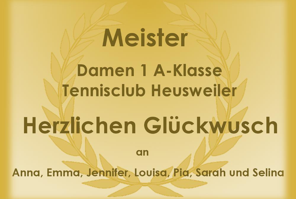 Meisterschaft Damen 1 des TC Heusweiler