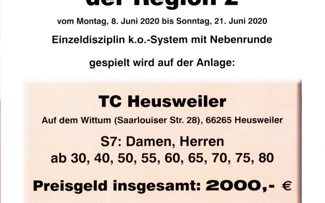 Regionalmeisterschaften in Heusweiler