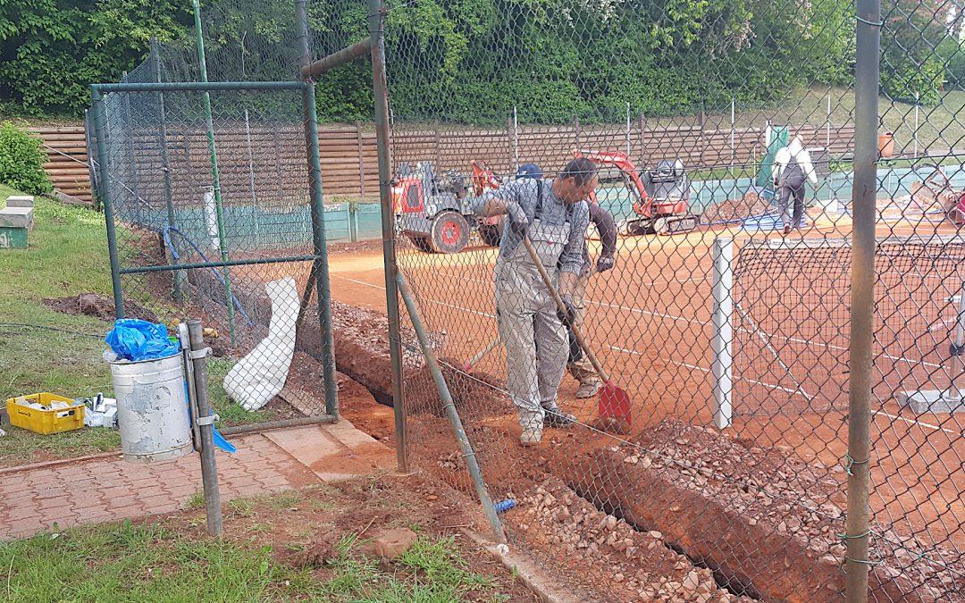 Unsere neue Bewässerungsanlage wird gebaut